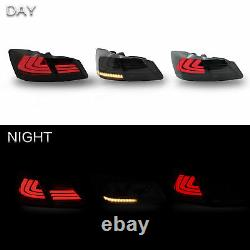 2013-2015 Honda Accord Smoked LED Sequential Taillight Lens with Housing Assembly