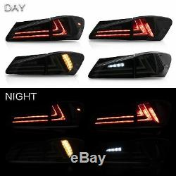 AMBER LED Headlights + SMOKED Taillights for 06-13 IS250/350 Sedan 08-14 IS F