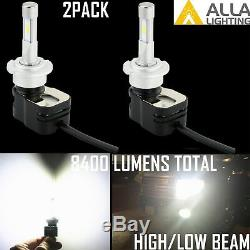 Alla Lighting 8400LM D2S LED Headlight High Low Beam Bulbs Lamps Conversion Kit