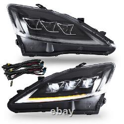 CLEAR FULL LED Headlights for 2006-2013 Lexus IS250 Sedan Front Lights Assembly