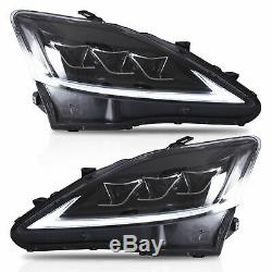 CLEAR FULL LED Headlights for 2006-2013 Lexus IS350 Sedan Front Lights Assembly