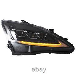 CLEAR FULL LED Headlights for 2008-2014 Lexus IS F Front Lights Assembly