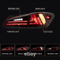 CLEAR LED Headlights + RED CLEAR Taillights for 06-13 IS250/350 Sedan 08-14 IS F