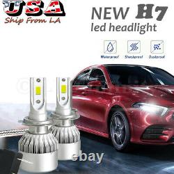 Cool White 6000K H7 LED Headlight Lamps High Low Beam Bulbs Halogen Replacement