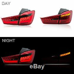 Custom Fiber Optic RED SMOKE LED Taillights Assembly for 11-19 Outlander Sport