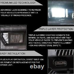 Customized Black FULL LED Headlights with Sequential Turn Signal for 18-20 F-150