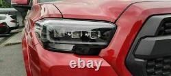 Customized CLEAR FULL LED LENS Headlights with Sequential for 16-21 Toyota Tacoma