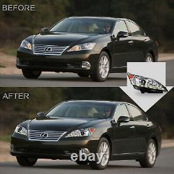 Customized CLEAR LED Headlights with DRL Dual Beam for 2010-2012 Lexus ES350