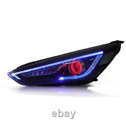 Customized Demon Headlights with Sequential Turn Signal for 2015-2018 Ford Focus