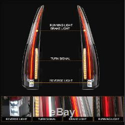 Customized Escalade Style CLEAR LED Tail Lights For 07-14 Yukon Suburban Tahoe