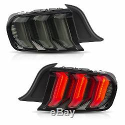 Customized FULL LED Headlights + SMOKED Taillights for 2018-2020 Ford Mustang