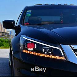 Customized LED Head Lights with Sequential Turn Signal for 08-12 Honda Accord