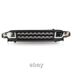 Customized LED Headlights + Black Grille Assembly for 07-14 FJ Cruiser