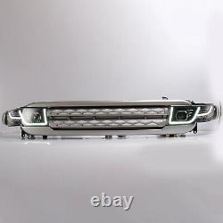 Customized LED Headlights + SILVER Grille Assembly for 07-14 FJ Cruiser