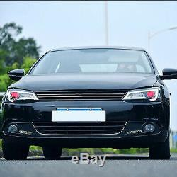 Customized LED Headlights with DEMON EYES Sequential Turn for 11-14 JETTA MK6