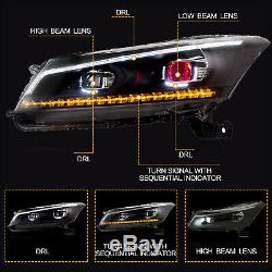 Customized LED Headlights with DRL DEMON EYES for 2008-2012 Honda Accord