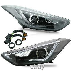 Customized LED Headlights with DRL Dual Beam for Elantra 11-16 Sedan 13-14 Coupe