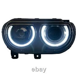 Customized LED Headlights with DRL Sequential Turn Signal for 08-14 Challenger