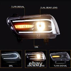 Customized LED Headlights with DRL Sequential Turn Signal for 2011-2014 Charger