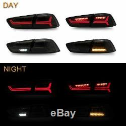 Customized LED Headlights with DUAL BEAM+SMOKED Taillights for 2008-2017 Lancer