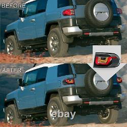 Customized LED Tail Lights Assembly For 2007-2015 Toyota FJ Cruiser