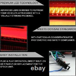 Customized RED CLEAR LED Tail Lights with Sequential Turn Sig. For 08-17 Lancer