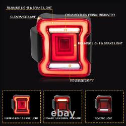 Customized RED CLEAR LED Taillights Assembly for 2018-2020 Jeep Wrangler
