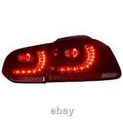 Customized RED CLEAR LED Taillights for 2010-2013 Volkswagen GOLF 6 MK6 GTI