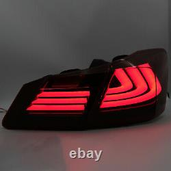 Customized RED SMOKED LED Taillights with Sequential Turn Sig. For 13-15 Accord