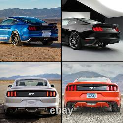 Customized SMOKED FULL LED Taillights with Sequential Turn Sig. For 15-20 Mustang