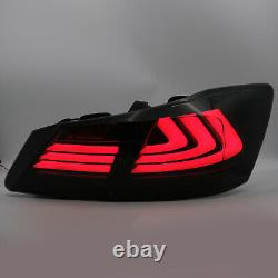 Customized SMOKED LED Tail Lights withDRL Sequential Turn Sig. For 13-15 Accord