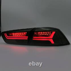 Customized SMOKED LED Tail Lights with Sequential Turn Sig. For 08-17 Lancer