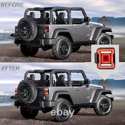 Customized SMOKED LED Taillights Assembly for 2018-2020 Jeep Wrangler
