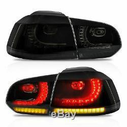 Customized SMOKED LED Taillights for 10-13 VW GOLF 6 MK6 GTI 12-13 Golf R