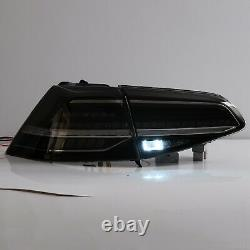 Customized SMOKE FULL LED Taillights for 15-17 VW Golf MK7 GTI HATCHBACK