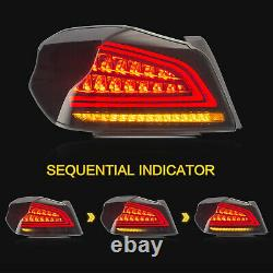 Customized SMOKE LED Tail Lights With Sequential Turn for 15-19 Subaru WRX / STI