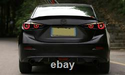 Customized SMOKE LED Tail Lights with Sequential Turn Sig. For 14-18 Mazda 3 Sedan