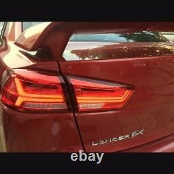 Customized VLAND RED LED Tail Lights with Sequential Turn Sig 08-17 Lancer