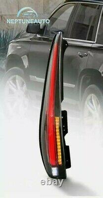 Escalade Style CLEAR LED Tail Light DRIVER SIDE For 07-14 Yukon Suburban Tahoe