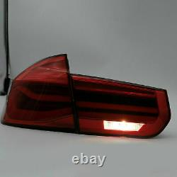 For 12-18 BMW F30 3er F80 M3 Rose Red Fiber Optic LED Strip Sequential Taillight
