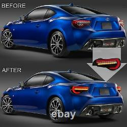 For 13-16 Scion FR-S 17-19 86 13-20 Subaru BRZ ALL SMOKED LED Taillights