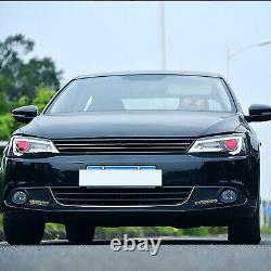 For 2011-2014 VW JETTA MK6 with DRL Sequential Turn Sig. DEMON EYES LED Headlights