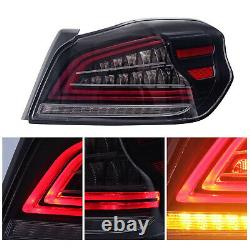 For 2015-2019 Subaru WRX/STI Clear LED Tail Lights Assembly With Sequential Turn