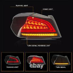 For 2015-2019 Subaru WRX/STI Smoked LED Tail Lights Assembly With Sequential Turn