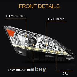 For Lexus ES350 headlights Projector 20102012 silver chrome LED Front lamp Pair