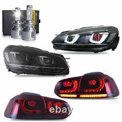 Free Shipping to PR for 10-13 Golf MK6 GTI R Demon Headlights+Taillight+D2S Bulb
