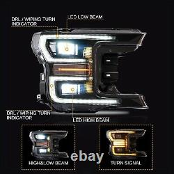 Free Shipping to PR for 18-20 F-150 BLACK LED Headlight withSequential Turn sig