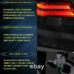 Full Smoked Lens LED Taillight Taillamps Left+Right For 2008-2012 Honda Accord