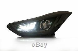 Headlights withDEMON EYES + SMOKED Taillights for Elantra 11-16 Sedan 13-14 Coupe
