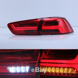 LED Audi Look Red Tinted Tail Lights For Mitsubishi Lancer EVO X 2008-2017